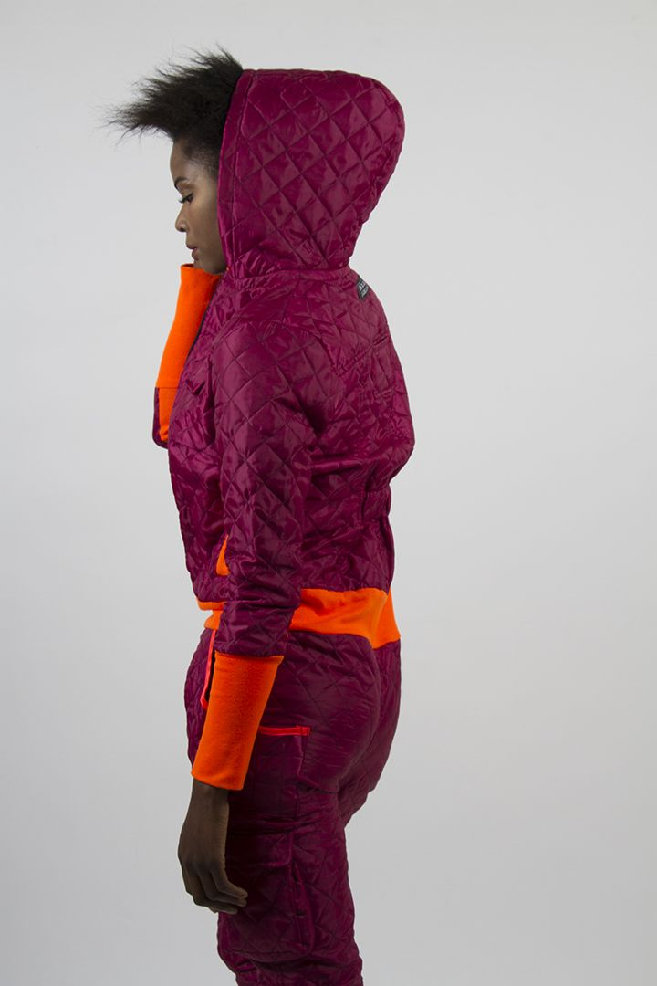 Cyborg jumpsuit pink quilted